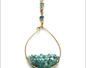 Golden Teardrop Pendant Necklace