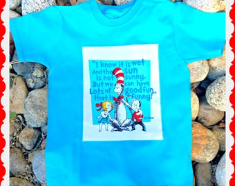 Boys Dr Seuss shirt Cat in the Hat  Story Book 4/5 6/7 8/10 12/14 ready to ship