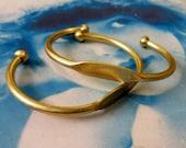 Raw Brass Bangle Bracelet with ID Blank 1074RAW x1