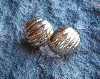 Earrings, Vintage 80's Gold Tone Earrings
