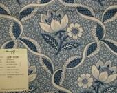 Greef Le Paradou Blue White Jacobean Floral Designer Fabric Sample