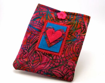 Heart Paperwhite Kindle Fire Padded Fabric Cover eReaders