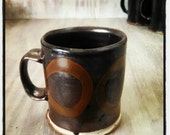 Black Mug with Circles
