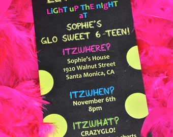 Glow-in-the-Dark PaRtY Invitation