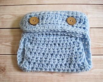 Baby Boy Diaper Cover, Newborn Photo Prop, Crochet Diaper Cover, Baby Diaper Cover Newborn, Blue Diaper Cover Infant, Newborn Diaper Cover,