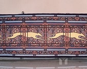 Jane Walker's Running Greyhound Paisley Blue Multi  Martingale Collar