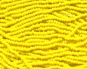 8/0 Yellow Opaque Czech Glass Preciosa Rocaille Seed Beads 40 grams