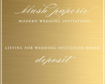 Wedding Invitation Deposit Order