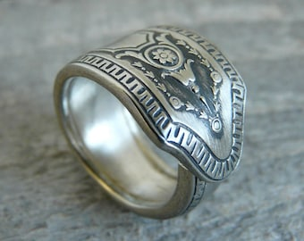 Antique Silver Spoon Ring - Marabell