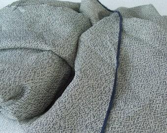 "68"" x 58"" Vintage Textured Fabric Thrift Shop Chic"
