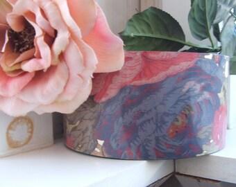 Vintage Melamine Vanity Container ~ Cottage Roses