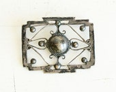 Vintage Taxco 980 Brooch - Mexico - Silver - Delicate - working clasp