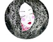 Moon Goddess. Art print