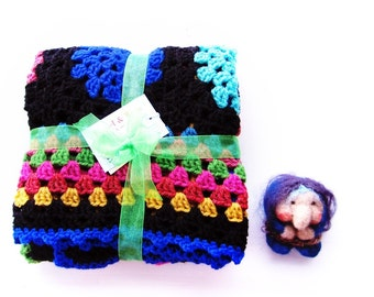 Crochet baby blanket. Wrap up your little gypsy fairy. Gypsy Caravan blanket. Thistledown 2797
