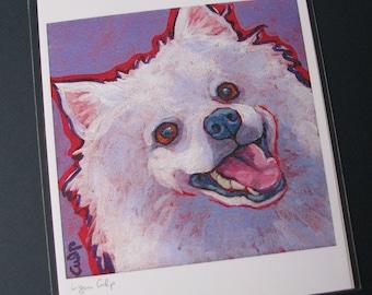 AMERICAN ESKIMO Dog 8x10 Signed Art Print from Painting by Lynn Culp