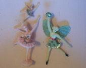 dancing girl ballerina cake toppers