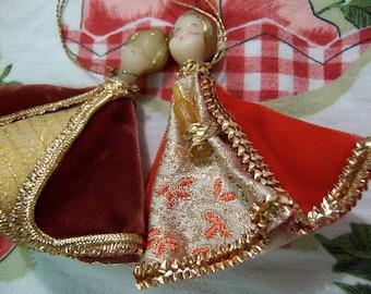 wax head koestel doll ornaments
