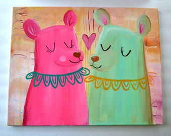 Let's Be In Love- 16 x 20 Original Painting on Canvas