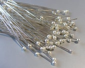 250 pcs of Silver Plated Ball head pins, 40mm,  23 gauge  HP7511