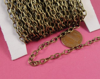 7 ft Antiqued Bronze chain / 6x4mm / jewelry chain / necklace chain /  chn811
