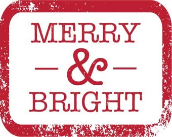 Merry & Bright Iron On Transfer
