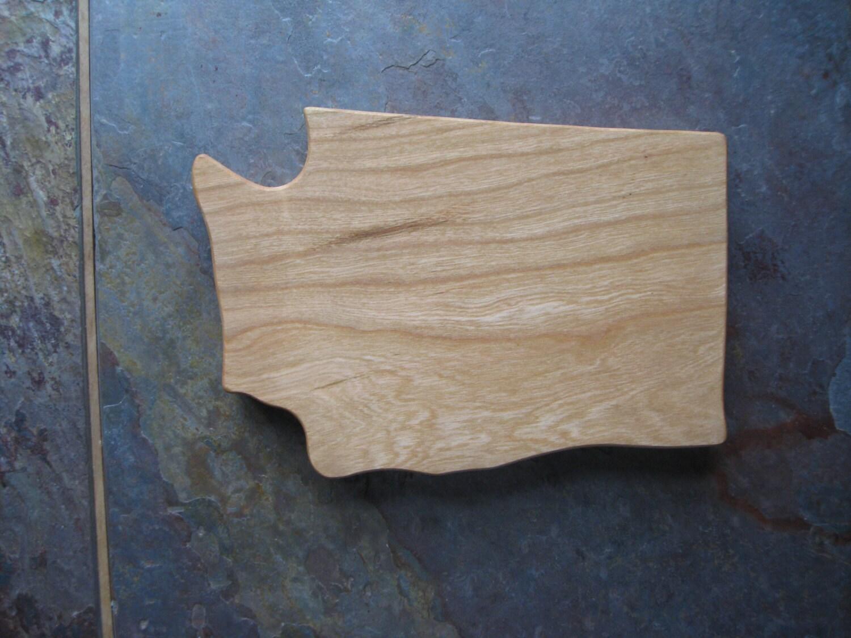 state shaped cutting board washington cherry. Black Bedroom Furniture Sets. Home Design Ideas