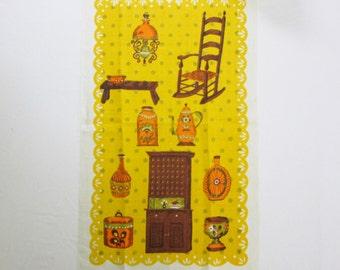Vintage Linen Tea Hand Towel Kitchen Textiles Colonial Mint