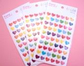 KAWAII Rainbow Heart Sticker Sheet