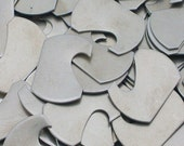 """Nickel Silver Notched Dog Tags - 1"""" x 1 1/2"""" x 18 Gauge Metal Stamping Blanks - Qty 3"""