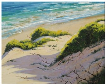 BEACH DUNES PAINTING  Impressionist Seascape by Graham Gercken