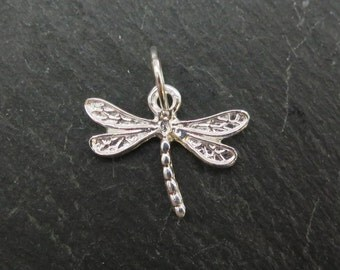 Sterling Silver Dragonfly Pendant 16mm (CG6899)