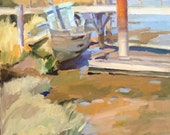 "Fine art Oregon coast plein air painting by Sarah Sedwick ""The Old Sailor"""