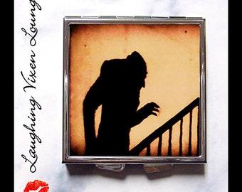 Nosferatu Pill Box - Vampire Compact Mirror - Nosferatu Compact Mirror Style-E - Vampire Pill Box - Vampire Pill Case - Pillbox