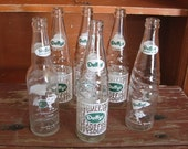 Vintage Six Pack Duffy's Soda Bottles Variety With Cardboard Carrier