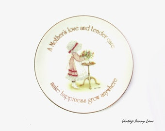 Vintage Holly Hobbie Dish, Mini Porcelain Plate