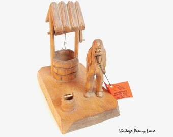 Handmade Quebec Folk Art, Wood Carving by Robert Jean