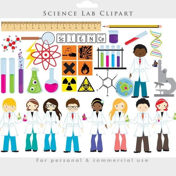Science clipart - chemistry lab clip art test tubes scientists ...