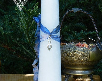 Euphoria Peace and Healing Torch Light Candle 2x9 Pillar