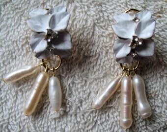 Earrings Designed by Artist Shelley Cole Bridal Flower Earrings