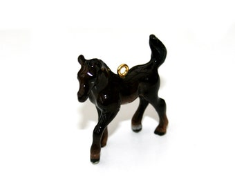 Porcelain Horse Necklace, Colt Necklace, Animal Necklace