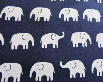 Happy Elephants - Japanese Cotton Fabric - Half Yard