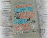 At The Beach Beach House Embroidery Design