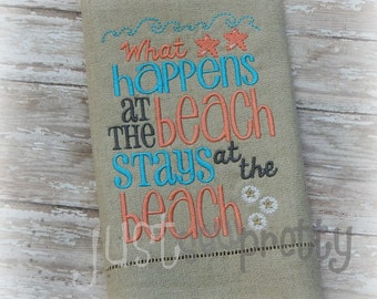 At The Beach Beach House Embroidery Design