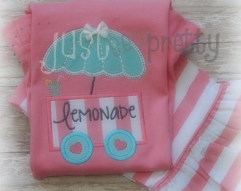 Lemonade Stand Embroidery Applique Design