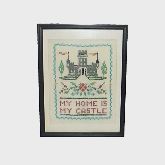 1980s wall hanging vintage 80s home decor my home is my for Home decor 80s