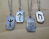 Viking Rune Necklace Norse Rune Protection Rune Warrior Rune Prosperity Rune Strength Rune Viking jewelry mens necklace