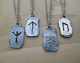 Viking Rune Necklace, Protection Rune, Warrior Rune, Prosperity Rune, Strength  groomsmen gift, graduation gift