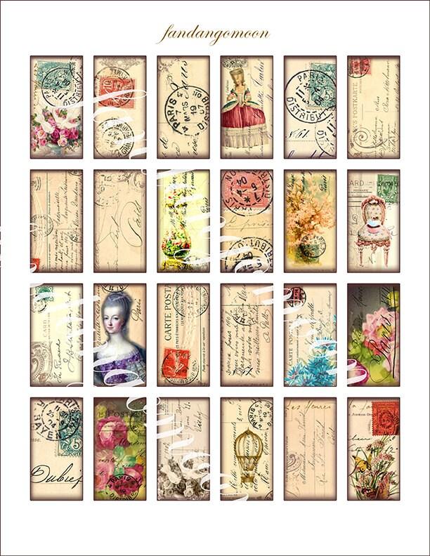 24 images paris postcard postmarks stamps domino shapes 1 by 2. Black Bedroom Furniture Sets. Home Design Ideas