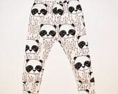 Organic baby leggings in panda bears, baby leggings,  baby pants, toddler leggings, toddler pants