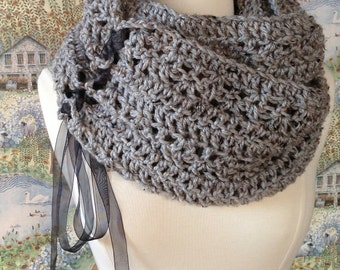 Trinity Scarf Crochet Pattern DIY Scarf or Oversized Chunky Cowl